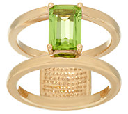 14K Gold Gemstone Polished Double Bar Band Ring, 1.60 cttw - J325021