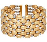 Arte d Oro Large Diamond Cut Bead Cuff Bracelet 18K, 40.5g - J325821