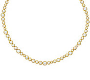 Judith Ripka 14K Clad 118 Facet Diamonique Tennis Necklace - J328121