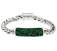 Pave Precious Gemstone Sterling Silver Bracelet 2.75 cttw - J330221