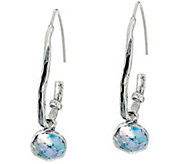Sterling Silver Roman Glass Threader Earrings by Or Paz - J331521