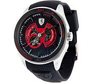 Ferrari Mens Silicone Strap Stainless Steel Gran Premio Watch - J334321
