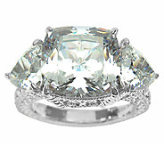 Judith Ripka Sterling 3-Stone 12.50cttw Diamonique Ring - J336821