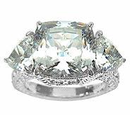 Judith Ripka Sterling 3-Stone 12.50cttw Diamonique Ring - J336821