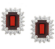 Premier Emerald Cut 1.90cttw Garnet Earrings, 14K - J338221