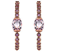 4.70cttw Pink Gemstone Hoop Earrings, Sterling/14K Rose Clad - J338521