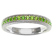 Judith Ripka Sterling Silver and Chrome Diopside Eternity Rin - J339821