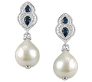 Judith Ripka Sterling Gemstone and Baroque Pearl Drop Earring - J341721