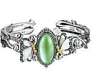 Barbara Bixby Sterling & 18K Multi-Gemstone Butterfly Cuff - J343021