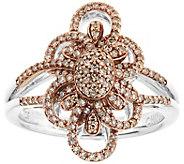 Champagne Diamond Ring, Sterling, 1/2 cttw, byAffinity - J344121