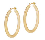 EternaGold 1-1/8L Polished Round Hoop Earrings, 14K - J344721