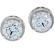 Diamonique 3.40 cttw Textured Stud Earrings, Sterling - J347121