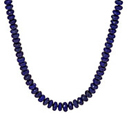 Sterling Faceted Lapis Bead 18 Necklace - J349421