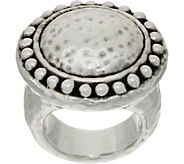 Simon Sebbag Sterling Silver Electroform Hammered & Textured Ring - J351021