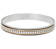 Or Paz Sterling Two-tone Crystal Spinner Bangle - J351921