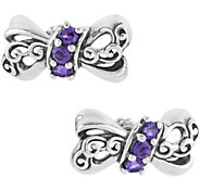 Carolyn Pollack Choice of Color Bow Earrings - J374921