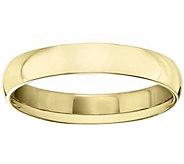 Womens 14K Yellow Gold 4mm Half Round WeddingBand - J375421