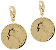 Vicenza Silver Sterling Set of 2 20-Lire Coin Charms - J375621