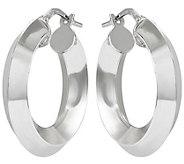 Sterling Knife Edged Hoop Earrings by Silver Style - J375721