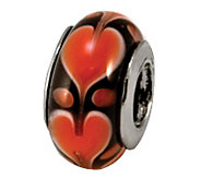 Prerogatives Sterling Red Heart Glass Bead - J108822