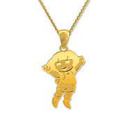 Dora the Explorer Sterling Silver 14K Clad  Pendant w/Chain - J112522
