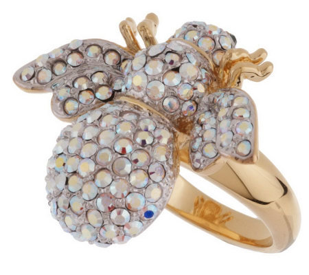 "Joan Rivers ""I'm a Winner"" Crystal Bee Ring"