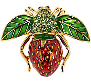 Joan Rivers Strawberry Bee Pin - J288622