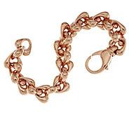 Bronze Bold Polished Status Rolo Link Bracelet by Bronzo Italia - J293022