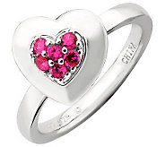Simply Stacks Sterling Polished Simulated RubyHeart Ring - J308922