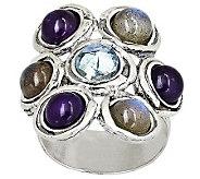 Or Paz Sterling Multi-gemstone & Roman Glass Ring - J309622