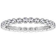 Diamonique 4/10 cttw Eternity Band Ring, Platinum Clad - J309722