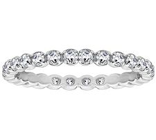 Epiphany Diamonique 4/10 ct tw Eternity Band Ring