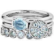 Simply Stacks Sterling Blue Topaz Ring Set - J310022