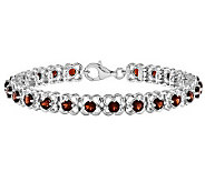 Sterling 7-1/2 Choice of Gemstone Flower Tenni s Bracelet - J313922