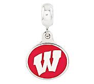 Sterling Silver University of Wisconsin DangleBead - J315022