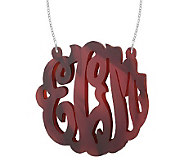 2 Acrylic Script Monogram Necklace, Sterling - J315222