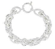 As Is Sterling 7-1/4 Polished & Textured Link Bracelet - J317522