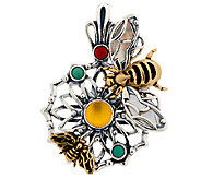 Fritz Casuse Sterling/Brass Gemstone Bumblebee Enhancer - J317822
