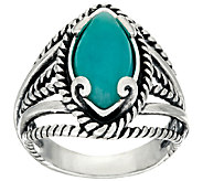 Carolyn Pollack Marquise Shape Amazonite Sterling Silver Ring - J322322