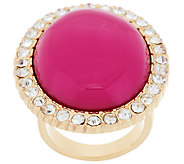 As Is Susan Graver Cabochon and Crystal Cocktail Ring - J325922