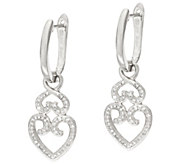 As Is Lace Design Diamond Drop Earrings, Sterling, 1/4ct tw by Affinity - J327622