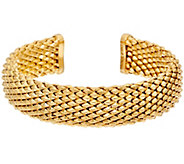 Bronze Faceted Cuff Bracelet by Bronzo Italia - J328922