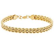 EternaGold 8 Bold Triple Silk Rope Bracelet 14K Gold, 5.0g - J330522