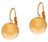 As Is Bronze Polished Bead Lever Back Earrings by Bronzo Italia - J332622
