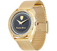 Ferrari Womens Crystal Bezel & Metal Mesh Donna Watch - J334322