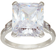 Grace Kelly Collection Simulated Emerald Cut Diamond Ring - J346322