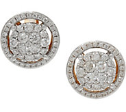 Cluster Diamond Round Stud Earrings, 14K, 6/10 cttw, by Affinity - J348122