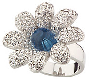As Is Nolan Millers Colossal Flower Cocktail Ring - J348422