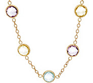 Arte d Oro 18 55.00 cttw Multi-gemstone Necklace 18K, 11.8g - J348722
