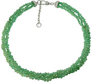 Judith Ripka Sterling Torsade with Aventurine Beads Necklace - J376622